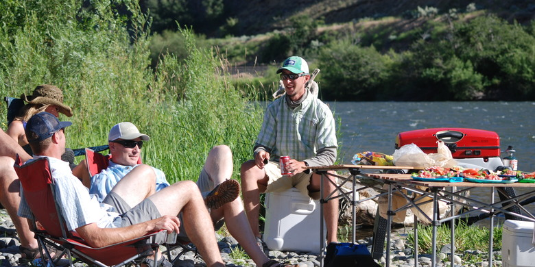 Lunch During a Guided Fly Fishing Trip on the Yakima River