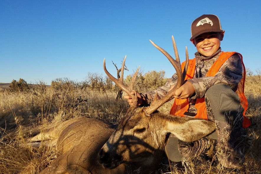 Jensen Rotter and Mule Deer Buck