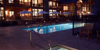 Lodge Pool at Night w/ Hot Tub